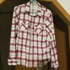Tops - Plaid button up top